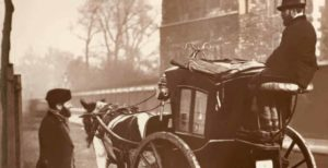 old photograph of the Hansom Cab
