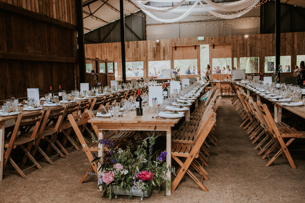 long dining tables for barn wedding Happy Valley Peterborough